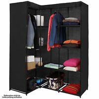 Wardrobe folding KOANA 169 x 130 x 45 cm Organiser corner wardrobe fabric