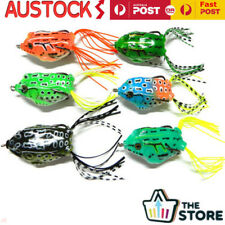 6PCS 55mm Soft Frog Lure Bass Fishing Hooks Bait Tackle Topwater Fishing Tool