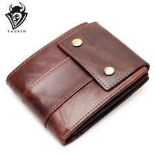 TAUREN, Luxury Genuine Leather Vintage Style Short Wallet - Men's, RFID, ID Slot