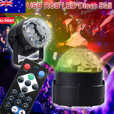 Home Party RGB LED Disco Crystal Magic Ball Stage Effect Light Lamp Remote Laser