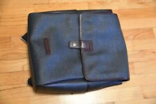 Wilson's Leather Backpack Blue/ Gray Metal Flap Closure