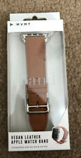 MVMT Vegan Leather Apple Watch Band 42-44mm NIB Brown. Soft Touch. NEw In Box