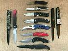 12 Assorted folding pocket knife grab bag