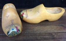 Vtg Wooden Shoes Clogs Windmill Holland Dutch Netherlands 26 cm