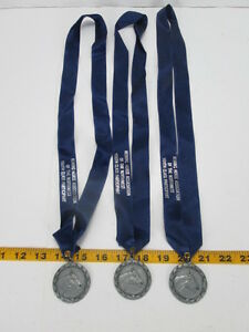 Lot of 3 Horse Metals Pewter Reining Horse Association NorthWest Participant  T