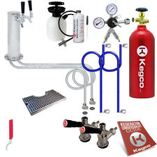 Kegco Kegerator Dual Tap Draft Beer Tower Conversion Kit Drip Tray CO2 Tank