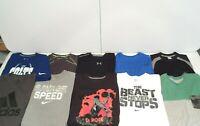 Lot of 10 Nike Under Armour Adidas Reebok Men's Shirt Size Large T-Shirt Top