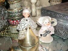 Vintage Christmas Angels Japan Porcelain Head Girl Angel Pipe Cleaners Felt 2