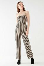 328ed555bbe Urban Outfitters Women s UO Straight Neck Striped Jumpsuit Sz  12 Large Blue  Tan