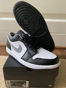 """Nike Air Jordan 1 Low """"Particle Grey"""" 553558-040 Men's Size 7 Shoes Sneakers"""