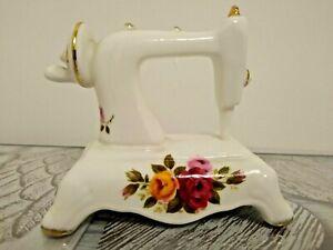 Cottage Rose Fine Bone China Sewing Machine