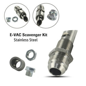 Car E-VAC Scavenger Kit Stainless Steel 304 Exhaust Vacuum Fitting Vent Vehicle
