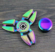 NEW!! Rainbow Fidget Hand Finger Spinner Metal Alloy Toy EDC for ADHD Gyro B6