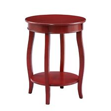 Red Round Table with Shelf by Powell Company