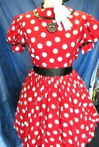 Ladies Cute Minnie Mouse Fancy Dress Costume 4 Piece 10/12