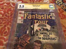 FANTASTIC FOUR  #45 CGC 2.5. SS SIGNED BY JOE SINNOTT 1st  INHUMANS