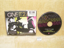 RARE MADONNA GIVE IT 2 ME CDS CD SINGLE (2008) OAKENFOLD EDDIE AMADOR