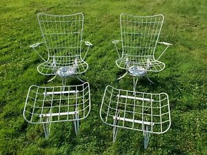 Vintage 4 pc. Set of Homecrest Patio Chairs & Ottomans