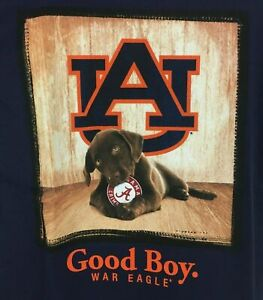 Auburn Tigers Dog T-Shirt Youth Sizes Good Boy Mans Best Friend Tee Color Navy