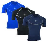 Mens Compression shirt Half Sleeve Base layer running tight top thermal Long MS
