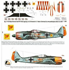 Peddinghaus 1/48 Fw 190 A-5/U7 Markings Hermann Graf EJGr Ost France 1943 738