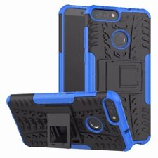 BACK CASE COVER FOR HUAWEI P8 P9 P10 & LITE HEAVYDUTY SHOCKPROOF WITH STAND