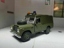Land Rover Series III soft top with roof emergency lights,Scale 1:43 by Cararama