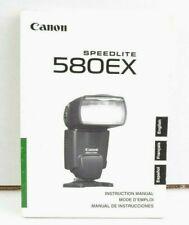 Canon Speedlite 580EX Instruction Manual User Guide English VGC (388)