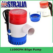 12V 1100GPH Submersible Bilge Water Pump Fishing Boat Caravan Campervan Camping