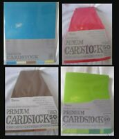 """Darice CORE'DINATIONS CARDSTOCK Paper 8 1/2"""" x 11"""" 50 Sheets YOU PICK COLOR"""