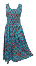 New Ladies Rayon Long Maxi Summer Dress Party Evening OneSize UK 14 16 18 20 22