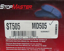 BRAND NEW STOP MASTER MD505 / D505 BRAKE PADS FITS VEHICLES LISTED ON CHART