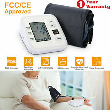 Automatic Upper Arm Blood Pressure Monitor Digital LCD BP Cuff Pulse Machine US