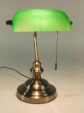 Tischleuchte Bankerslamp mit Zugschalter E27 Schreibtischleuchte Tischlampe
