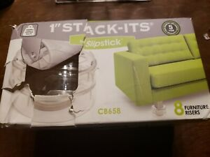 Slipstick CB658 Stack-Its 1 Inch Adjustable Bed Risers/Furniture Risers