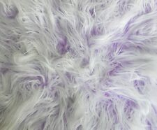 Lavender Frosted Mongolian Fake Faux Fur upholstery fabric by the yard 60 wide
