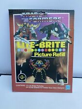 TRANSFORMERS LITE BRITE PICTURE REFILL 1985 VINTAGE LOT OF 12 Designs