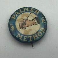 "Antique Whitehead + Hoag Stained Palmer Method 7/8"" Pin Pinback Button Vtg    P6"
