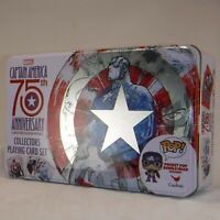 Captain America 75th Anniversary Collectors Tin (Playing Card Set & Pocket POP!)