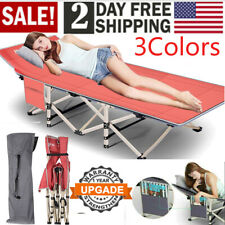 Durable Folding Bed Adjustable Guest Single Bed Lounge Twin Mattress Up to 600LB