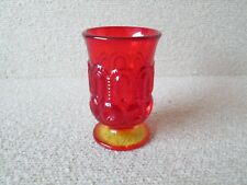Vintage Moon and Stars Pattern Glass LE Smith AMBERINA Glass Urn