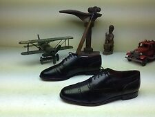 BLACK LEATHER PIERRE CARDIN  MADE IN ITALY WING TIP BUSINESS SHOES SIZE 11 M