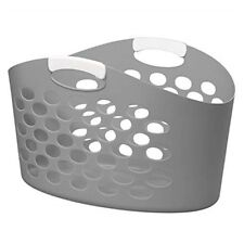 Elliotts 45 Litre Laundry Basket - Grey With White Handles - Elliott Sorbo Large