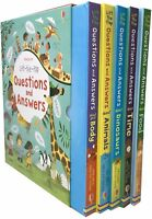 Usborne Lift-the-flap Questions and Answers 5 Books Collection Box Set Gift Pack
