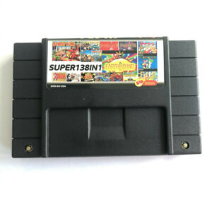 138 In 1 Super Game Cartridge 16-Bit Multicart NTSC SNES For Super Nintendo NEW