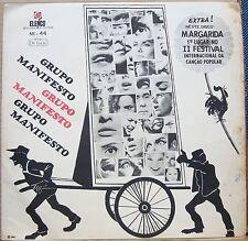 GRUPO MANIFESTO 1967  RARE! Elenco Mono Debut Bossa Chorus LP  BRAZIL HEAR
