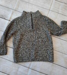 Zara Kids Collection •Size 7• The Knit Wear Mock  quarter zip Warm Cozy Sweater