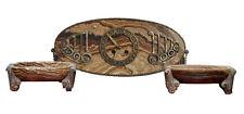 Pendule garniture Art déco 1930 onyx et bronze