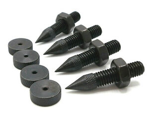 4 x Speaker spikes and feet M8 thread 42mm black plated finish