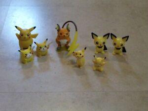 Vintage Pokemon Pikachu Family Figurines